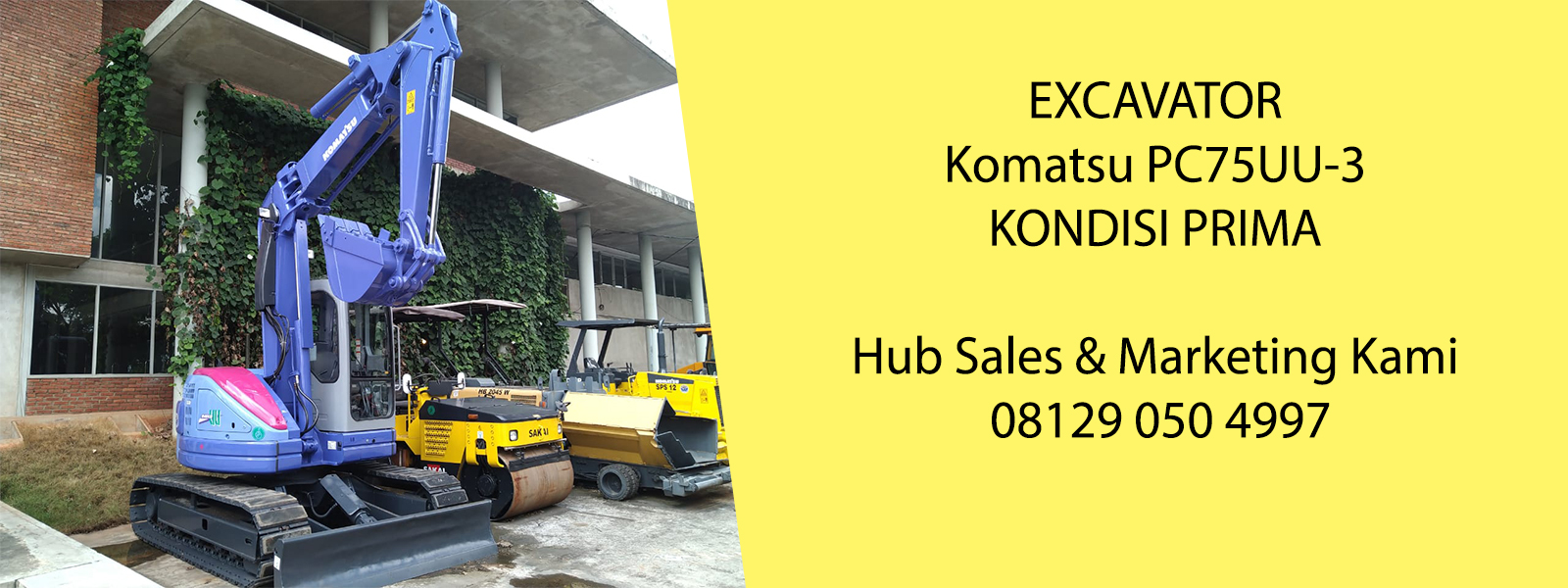 Excavator Komatsu PC75uu-3