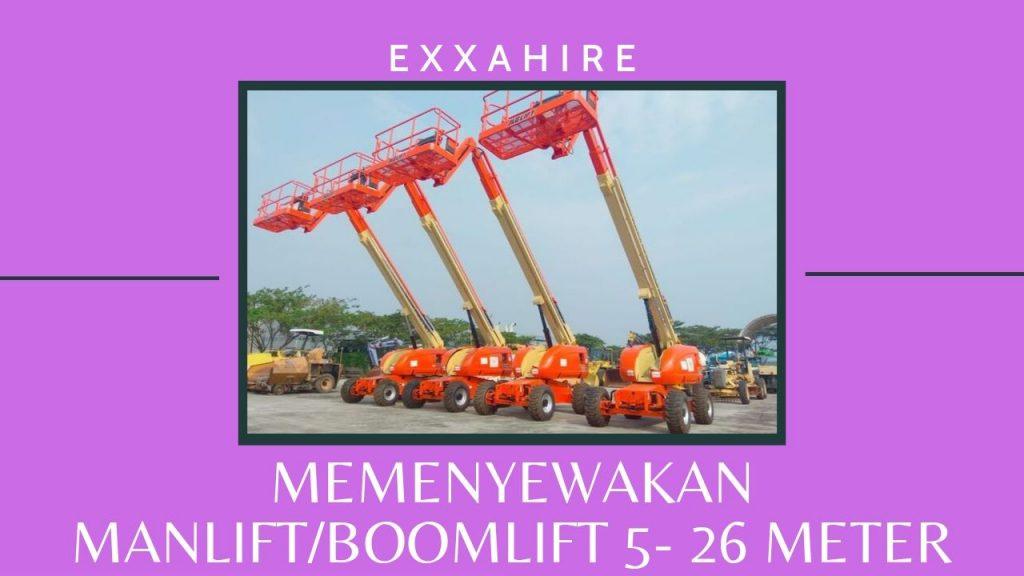 sewa boomlift - exxahire telp ke 021-55916100