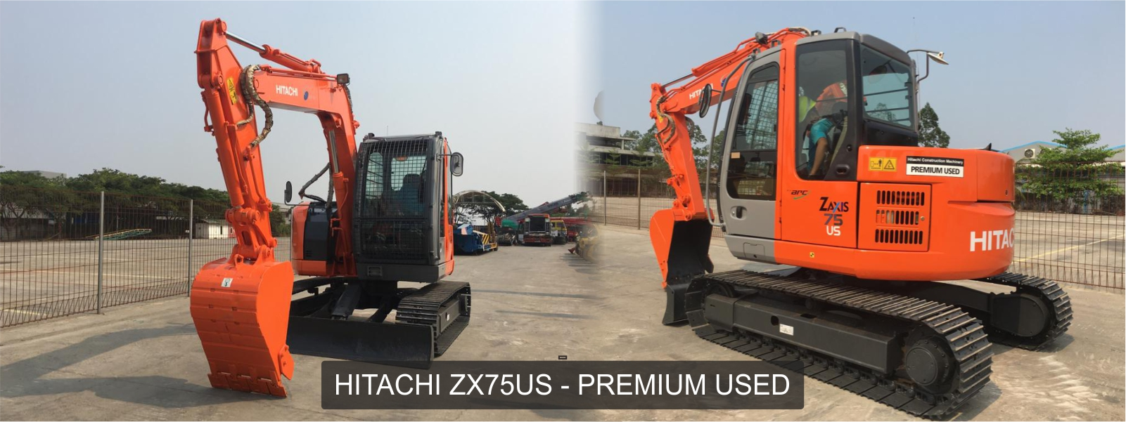 Exxa - HItachi ZX75US 7ton Premium Used - Excavator Bekas HItachi - Beko Bekas Hitachi