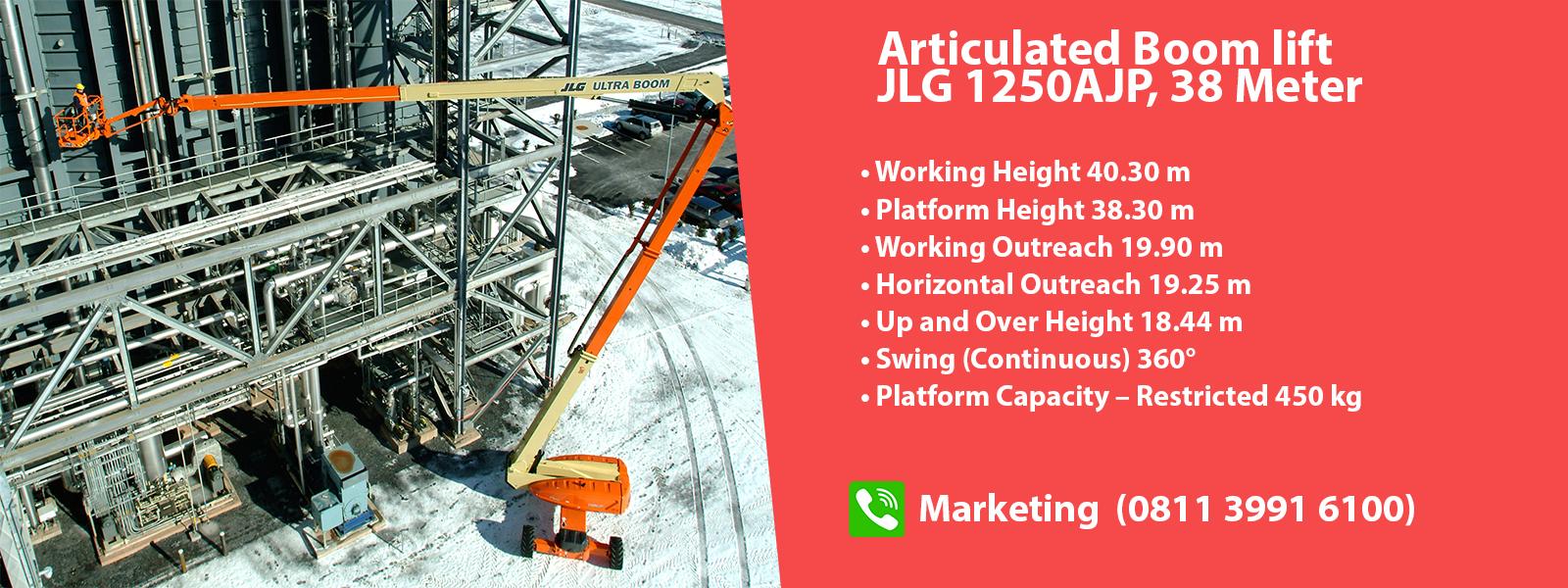 sewa manlift boom lift JLG 38 meter - Exxa